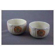 Vintage Hall China Orange Poppy Custard Cup Set