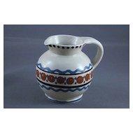 Vintage German Handarbeit Folk Pottery Pitcher