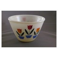 Vintage Fire King Tulip Mixing Bowl