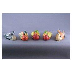 Vintage Miniature Duck  Salt & Pepper And Figures