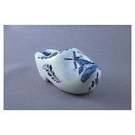 Ceramic Holland Delft Clog Ashtray