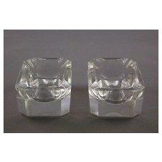 Vintage Clear Lead Crystal Ashtrays