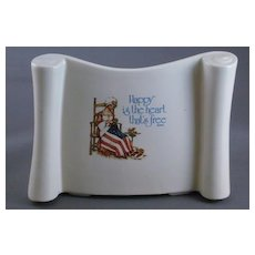 Vintage Holly Hobbie Freedom Series Betsy Ross Pottery Planter