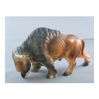 Buffalo Figurine Made In Japan