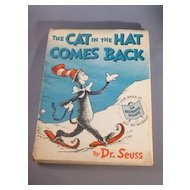 The Cat in the Hat Comes Back by Dr. Seuss 1958 First Edition