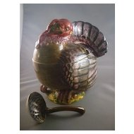 Ceramic Turkey Tureen With Ladle Made in Italy