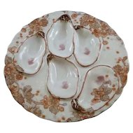 Vintage Haviland & Co. Oyster Plate with 5 holes