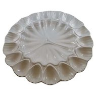 Vintage California Pottery Egg or Oyster Plate
