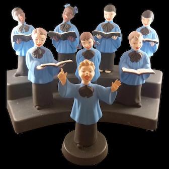 Pottery Choir Music Box by Jamar, Mallory Ceramic Studio