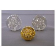 Vintage Glass Flower Frogs, Carnival Glass and Clear Glass