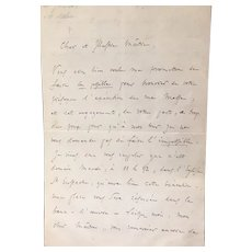 Original 1865 letter from Charles Gounod, composer
