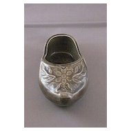 Vintage Ceramic Miniature Grey Dutch Clog
