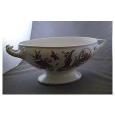 T. Elsmore and Son Transferware Porcelain Serving Tureen