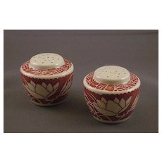 Vernon Kilns Ultra Line Hawaiian Flowers Salt and Pepper Shakers