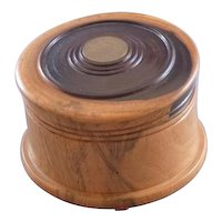 Vintage Jamaican wood coaster set
