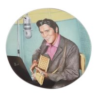 "1990 Elvis Presley Delphi collector plate ""Looking at a Legend"""