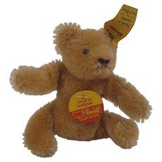 Steiff's Small Bendy Style Mohair Teddy Bear With All IDs