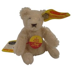 Steiff's Totally Adorable White Mohair Bendy Style Teddy Bear With All IDs