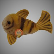 Steiff's Smallest Mohair Tiger Style Flossy Fish With ID