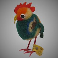 Steiff's Woolen Miniature Rooster With All IDs