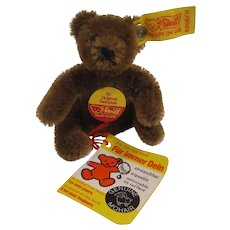 Steiff's Tiny and Precious Brown Bendy Style Teddy Bear With All IDs and More