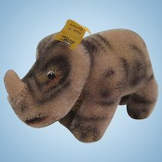 Steiff's Smallest Mohair Nosy The Rhino With All IDs