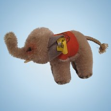Steiff's Smallest Standing Grey Mohair Elephant With All IDs