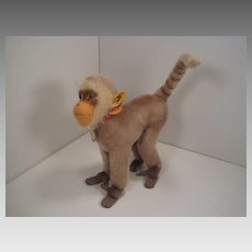 Steiff's Largest and Lovely Mohair Steiff Coco Baboon With All IDs