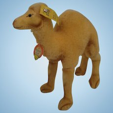 Steiff's Smallest Wool Plush and Velvet Camel With All IDs