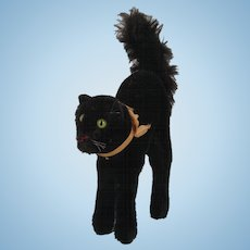 Steiff's Medium Sized Black Mohair Scary Cat