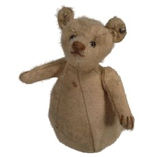 Steiff's Remarkable Turn Of Last Century White Mohair Roly Poly Rattle Bear With ID