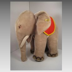 Steiff's Largest and Utterly Fantastic Mohair Standing Elephant With All IDs