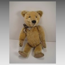 Very Early 20th Century Fully Jointed Blonde Mohair Bear, Possibly Made By Ideal