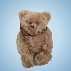 Fabulous 1920's-era Pink Mohair Helvetica Teddy Bear With WORKING Music Box
