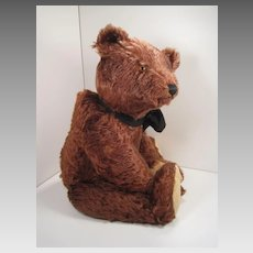 Steiff's Outstanding Very Large Prewar Chocolate Brown Mohair Teddy Bear With ID