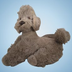 Steiff's Larger Grey Wool Plush Snobby Poodle Made as an Exclusive for FAO Schwarz