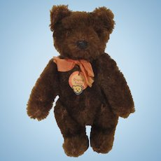 Steiff's Almost Smallest Chocolate Brown Fully Jointed Early Post War Teddy Bear With ID