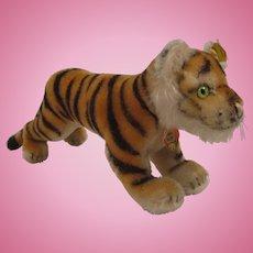 Steiff's Medium Sized Running Tiger Cub With All IDs