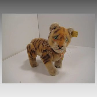 Steiff's Largest Fully Jointed Tiger Cub With All IDs