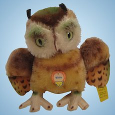 Steiff's Medium Sized Wittie Owl With All IDs