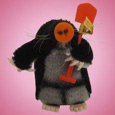 Steiff's Mohair Maxi Mole With IDs