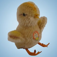 Steiff's Mohair Ball Style Baby Chick With IDs