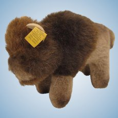 Steiff's Soft Plush Bully Bison With All IDs