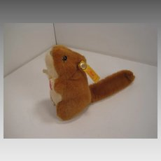 Steiff's Soft Plush Dormouse With All IDs
