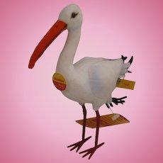 Steiff's Standing Adebar Stork With All IDs
