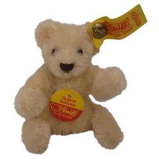 Steiff's White Mohair Bendy Teddy Bear With All IDs