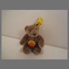 Steiff's Small Bendy Style Caramel Mohair Teddy Bear With All IDs