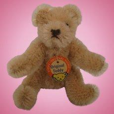 Steiff's Small Bendy Style Mohair Teddy Bear With ID