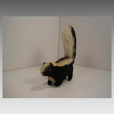 Steiff's Smallest Velvet and Mohair Skunk With All IDs