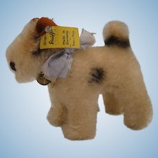 Steiff's Almost Smallest 10 cm Foxy Fox Terrier With All IDs